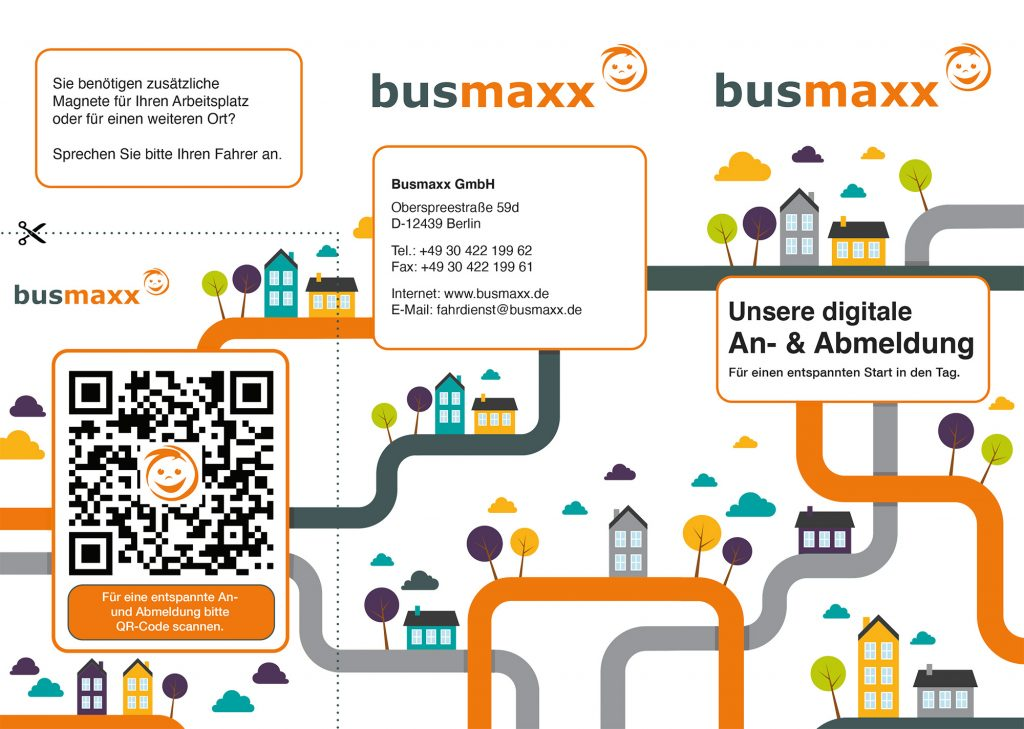 An- und Abmeldung Busmaxx - Flyer
